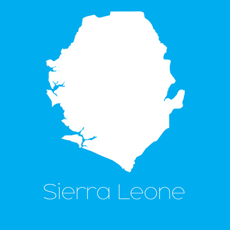 sierra: A Map of the country of Sierra Leone Illustration