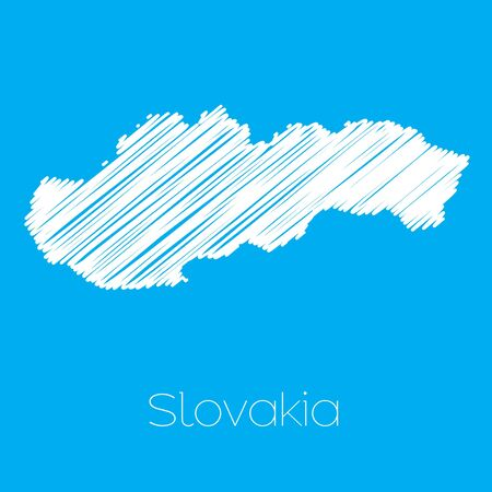 slovakia: A Map of the country of Slovakia Illustration