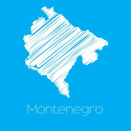 montenegro: A Map of the country of Montenegro