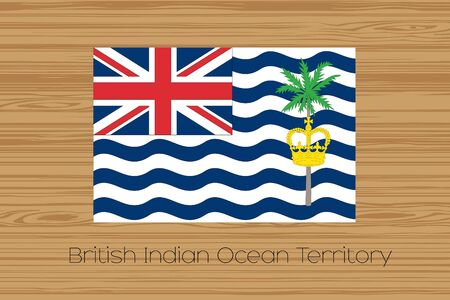 indian ocean: An Illustration of a wooden floor with the flag of British Indian Ocean Territory