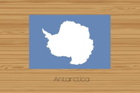 antartica: An Illustration of a wooden floor with the flag of Antartica Stock Photo