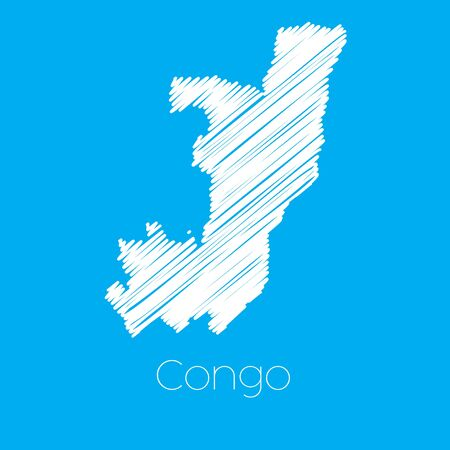 congo: A Map of the country of Congo Illustration