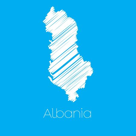 albanie: A Map of the country of Albania Illustration