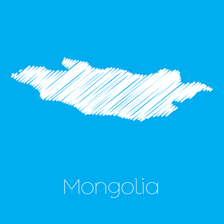 mongolia: A Map of the country of Mongolia Vectores