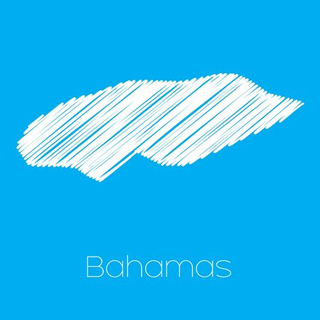 bahamas map: A Map of the country of Bahamas Illustration