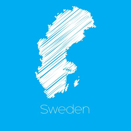 sweden: A Map of the country of Sweden