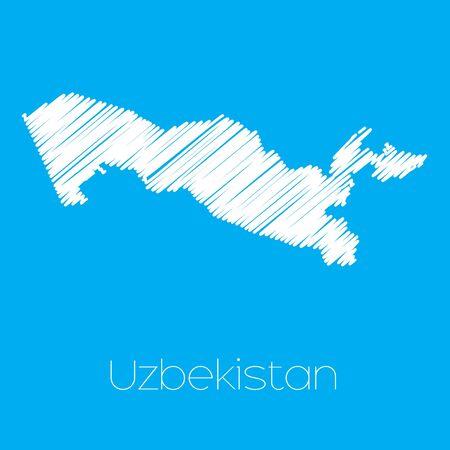 oezbekistan: A Map of the country of Uzbekistan