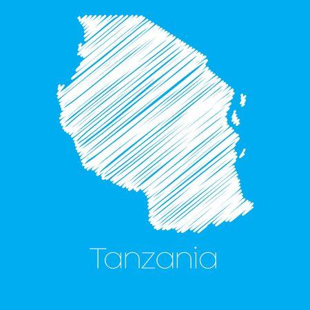 tanzania: A Map of the country of Tanzania
