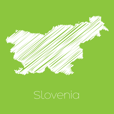 slovenia: A Map of the country of Slovenia Stock Photo