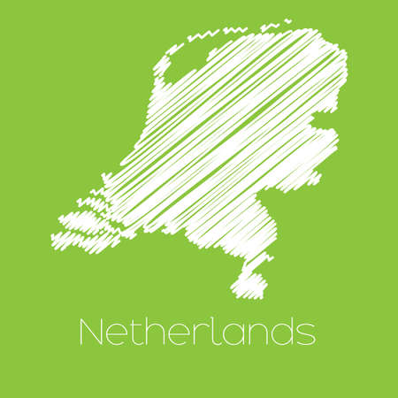 A Map of the country of Netherlands