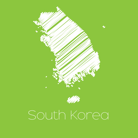 A Map of the country of South Korea
