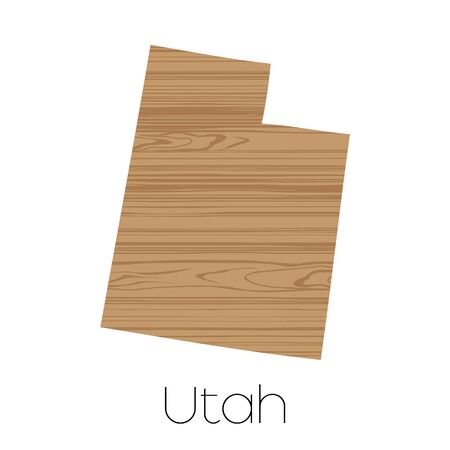 utah: An Illustrated Shape of the State of Alabama Utah Stock Photo