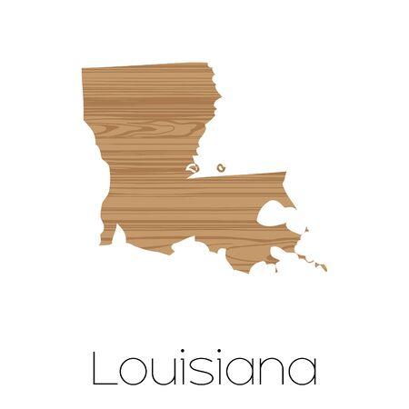 louisiana: An Illustrated Shape of the State of Alabama Louisiana