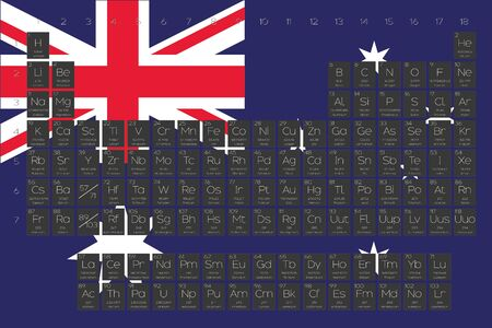 A periodic table of elements overlayed on the flag of australia a periodic table of elements overlayed on the flag of australia stock vector 45120326 urtaz Image collections