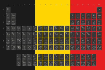 A periodic table of elements overlayed on the flag of belgium a periodic table of elements overlayed on the flag of belgium stock vector 45120144 urtaz Gallery