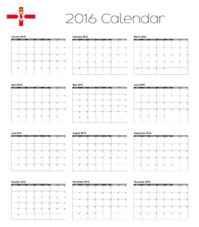 northern: A 2016 Calendar with the Flag of Northern Ireland