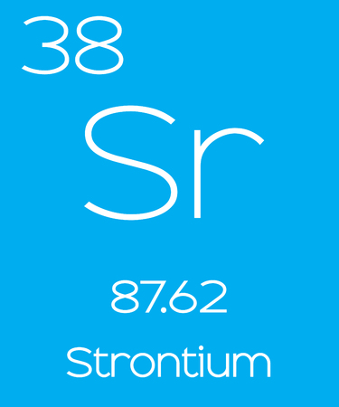 strontium: An Informative Illustration of the Periodic Element - Strontium Stock Photo