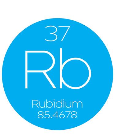 periodic element: An Informative Illustration of the Periodic Element - Rubidium Stock Photo