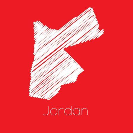 jordan: A Map of the country of Jordan Jordan Stock Photo