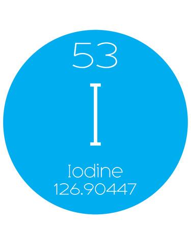 iodine: An Informative Illustration of the Periodic Element - Iodine Stock Photo
