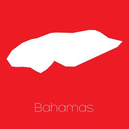 bahamas: A Map of the country of Bahamas Stock Photo