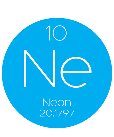 periodic element: An Informative Illustration of the Periodic Element - Neon Stock Photo