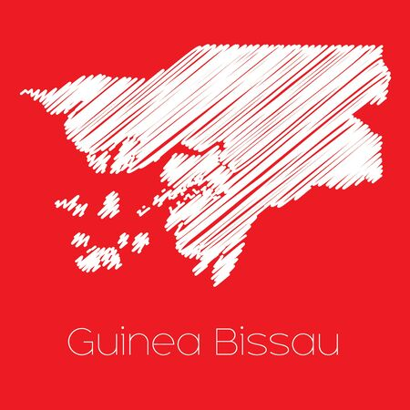 guinea: A Map of the country of Guinea Bissau Guinea Bissau