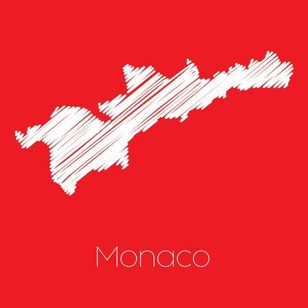 monaco: A Map of the country of Monaco Monaco