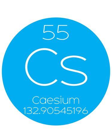 caesium: An Informative Illustration of the Periodic Element - Caesium
