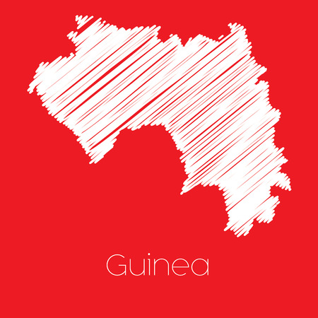 guinea: A Map of the country of Guinea Guinea Stock Photo