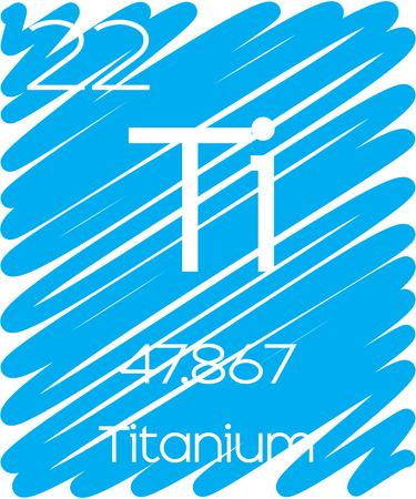 titanium: An Informative Illustration of the Periodic Element - Titanium