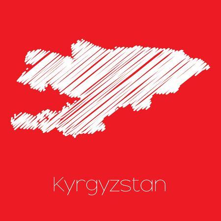 kyrgyzstan: A Map of the country of Kyrgyzstan Kyrgyzstan Stock Photo