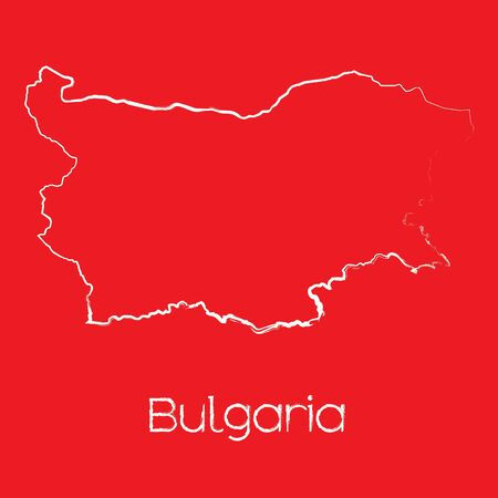 A Map of the country of Bulgaria