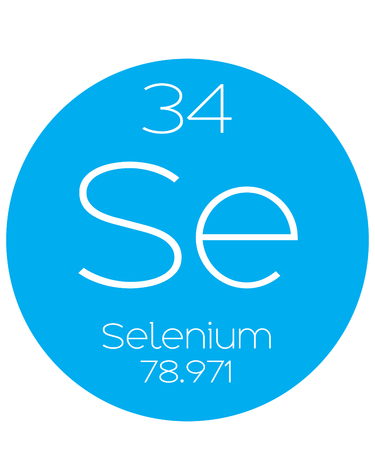 selenium: An Informative Illustration of the Periodic Element - Selenium Stock Photo