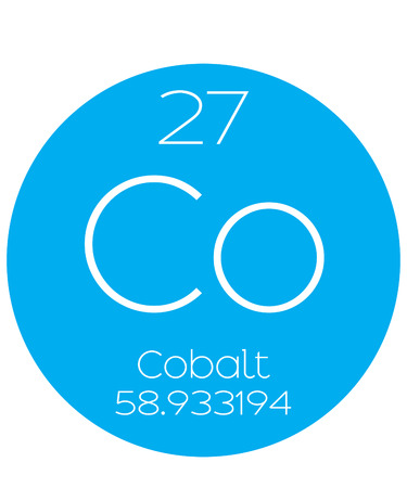periodic element: An Informative Illustration of the Periodic Element - Cobalt Stock Photo