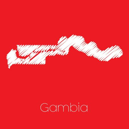 gambia: A Map of the country of Gambia Gambia Stock Photo