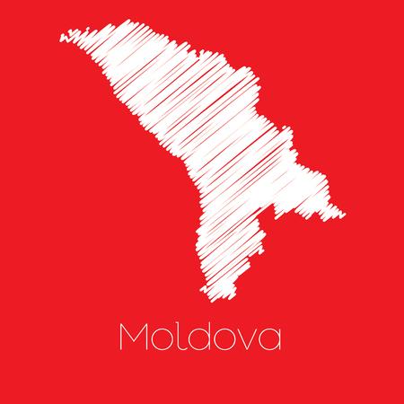 moldova: A Map of the country of Moldova Moldova