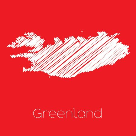 greenland: A Map of the country of Greenland Greenland