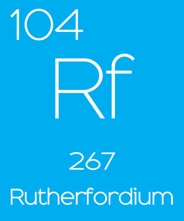 informative: An Informative Illustration of the Periodic Element - Rutherfordium Stock Photo