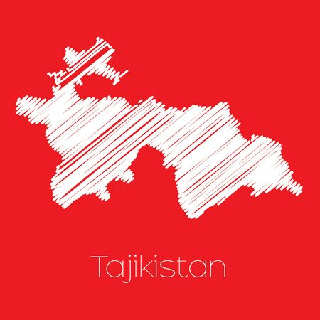 tajikistan: A Map of the country of Tajikistan Tajikistan