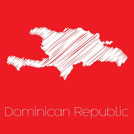 dominican: A Map of the country of Dominican Republic Dominican Republic