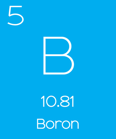 boron: An Informative Illustration of the Periodic Element - Boron Stock Photo