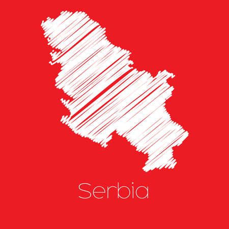 serbia: A Map of the country of Serbia Serbia Stock Photo