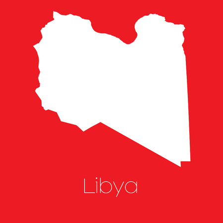 libya: A Map of the country of Libya Stock Photo