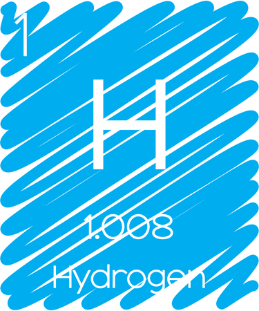 hidr�geno: Una Ilustraci�n Informativo del Elemento Peri�dica - Hidr�geno