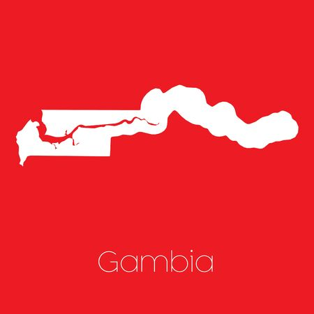 gambia: A Map of the country of Gambia