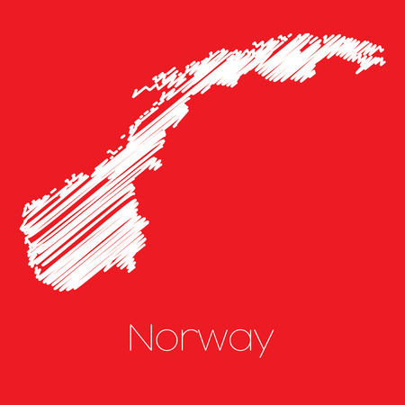 norway: A Map of the country of Norway Norway