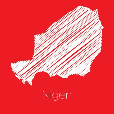 niger: A Map of the country of Niger Niger
