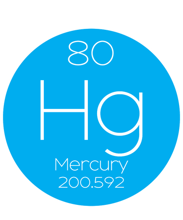 mercury: An Informative Illustration of the Periodic Element - Mercury Stock Photo