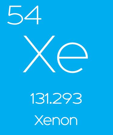 xenon: An Informative Illustration of the Periodic Element - Xenon